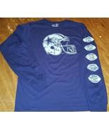 DALLAS COWBOYS LONG SLEEVE SUPERBOWL HELMET T SHIRT  COWBOYS SHIRT NAVY ... - $27.99
