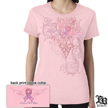 ELITE BREED FIREFIGHTER-LADIES SUPPORT THE CURE - T-SHIRT - $18.80+