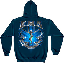New Ems Hoodie On Call For Life Blue Sweatshirt - $36.62+