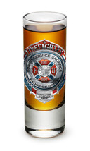 FIREFIGHTER - BADGE OF HONOR- NEW-  2 OZ. SHOT GLASS - $9.99+