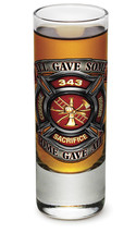 "FIREFIGHTER TRIBUTE - ""COURAGE, SACRIFICE, HONOR- NEW-  2 OZ. SHOT GLASS - $12.74 CAD+"