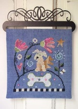 Pup Over The Hill Part 4 cross stitch chart SamSarah Designs - $12.50
