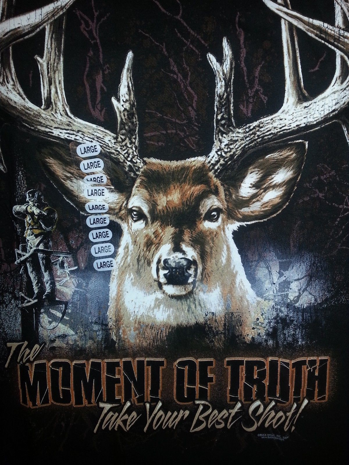 Primary image for MOMENT OF TRUTH DEER- TAKE YOUR BEST SHOT T-SHIRT NEW HUNTING SHIRT--