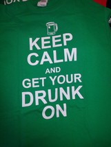 NEW KEEP CALM AND GET YOUR DRUNK ON T SHIRT  FUNNY SHIRT - £9.32 GBP+