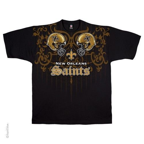NEW ORLEANS SAINTS New with tags FACE - OFF  T-Shirt BLACK shirt NFL