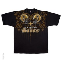 NEW ORLEANS SAINTS New with tags FACE - OFF  T-Shirt BLACK shirt NFL - $24.99+