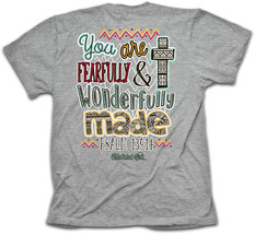 New CHERISHED GIRL T SHIRT Wonderfully Made Kerusso - $16.99+