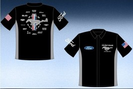 New FORD MUSTANG  PIT SHIRT JH Design BLACK - £45.80 GBP
