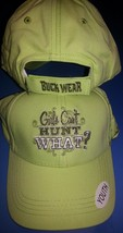 New GIRLS CAN'T HUNT WHAT Youth Hat Cap Lime Green - $9.99