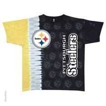 New PITTSBURGH STEELERS VERTICAL Tie Dye T-Shirt NEW LICENSED TEAM APPAR... - $25.99+