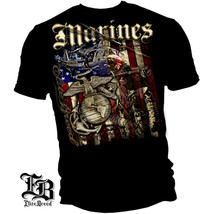 New USMC T-Shirt MARINE AERIAL ASSAULT Licensed SHIRT - $18.99+