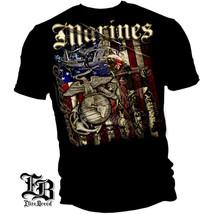 New USMC T-Shirt MARINE AERIAL ASSAULT Licensed SHIRT - $18.99+