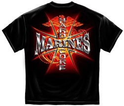 New USMC T-Shirt HARDCORE MARINES MILITARY SHIRT LICENSED APPAREL - $17.99+
