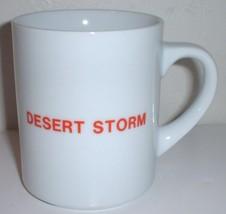 ceramic coffee mug: Operation Desert Storm, American flag  - $15.00