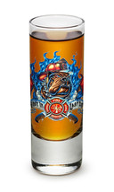 "RESCUE DOG- ""FIRST IN, LAST OUT""- NEW-  2 OZ. SHOT GLASS - $12.74 CAD+"