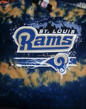 ST LOUIS RAMS  'HORIZONTAL STENCIL'  Tie Dye  T-Shirt NEW NFL - $25.99