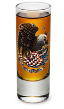 """THESE COLORS DON'T RUN"" WITH EAGLE- NEW-  2 OZ. SHOT GLASS - €8,49 EUR+"