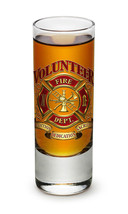 VOLUNTEER FIREFIGHTER-  TRADITION, DEDICATION, SACRIFICE  2 OZ. SHOT GLA... - $9.89+