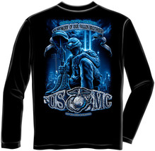 New USMC- You Will Never Be Forgotten Licensed Marines Long Sleeve T Shirt Usa - $24.99