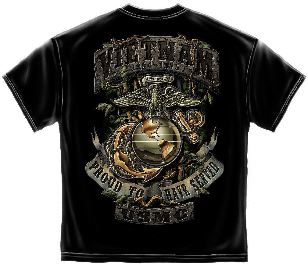 VIETNAM- PROUD TO HAVE SERVED- USMC T-SHIRT