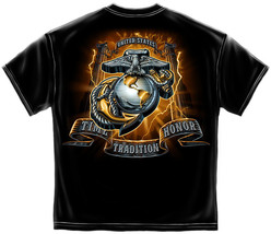 USMC TIME, TRADITION AND HONOR- MARINES  T SHIRT - $17.99+