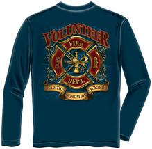 New VOLUNTEER FIREFIGHTER  LONG SLEEVE T SHIRT TRADITION DEDICATION, - £18.14 GBP