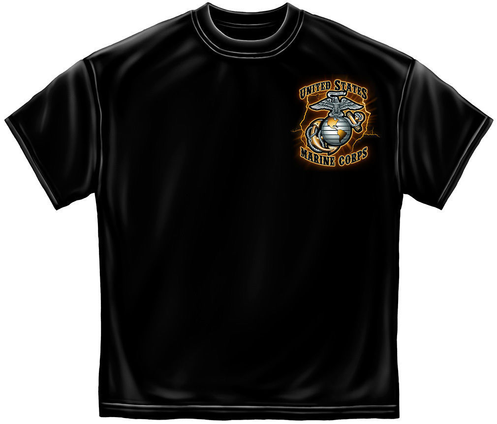 USMC TIME, TRADITION AND HONOR- MARINES  T SHIRT