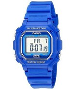 Casio F108WH Water Resistant Digital Blue Resin Strap Watch - $56.37 CAD