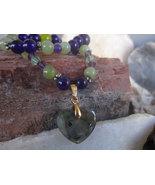 Labradorite gemstone necklace  - $44.00
