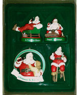 NIB 4 Santa Coca Cola Christmas Ornaments Trim-a-Tree Collection Claus F... - $19.95