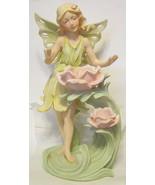 Garden Fairy Nymph Floral Sculpture Large Resin - $222.74