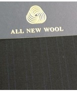 fine 120'S Italian Wool Suit Fabric  8 Yards  msrp1650 Free Shipping - $118.69
