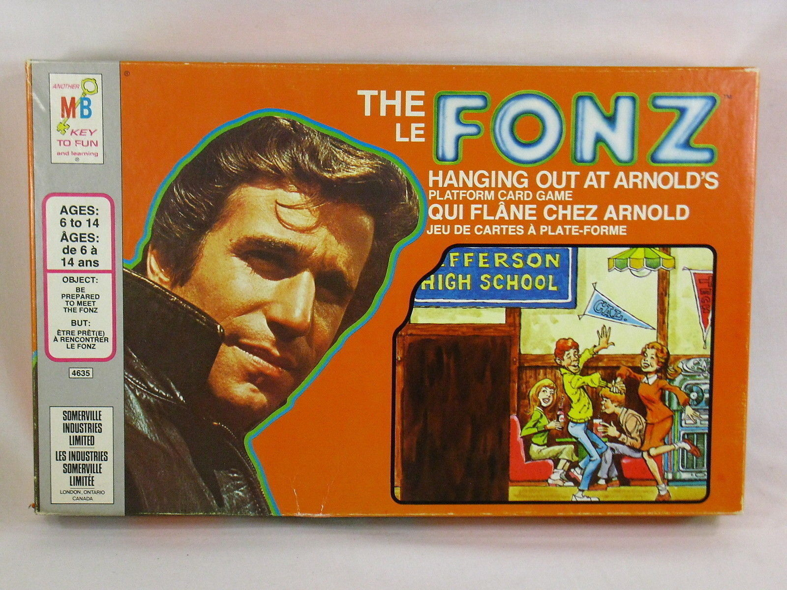 Primary image for The Fonz 1976 Board Game Hanging Out at Arnold's Milton Bradley Excellent Plus