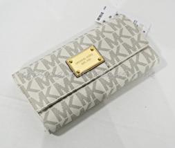 NWT Michael Kors Jet Set Checkbook Wallet in Signature PVC. Vanilla - $139.00