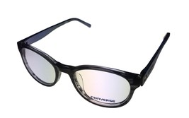 Converse Ophthalmic Mens Semi Round Black Stripe Plastic Frame Q014 51mm - $35.99