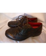 Red Tape Fine Leather Brown Lowick Brogue Round Toe Boys' Shoes Sz UK 4 ... - $34.98