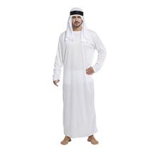 Halloween Men Arab King Prince Chief Costume with Long Tunic Headdress - $26.69
