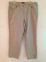 "Calvin Klein Mens 36 37 X 30"" Long Cotton Khaki Flat Front Pants Gu - $11.10"