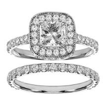 14k white gold 2 3 4ct tdw princess diamond bridal ring set 2 1 thumb200