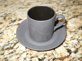 Wedgwood Basalt Black Demitasse cup and saucer - $17.77
