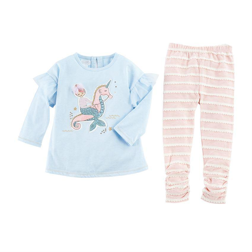 Mud Pie Girl Mermaid Tunic And Legging Size 12 Months to 5T - $28.00 - $35.00
