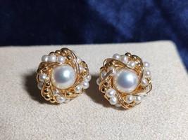 Real pearl earrings,Natural handmade Pearl earrings, handmade fashion pe... - $60.00