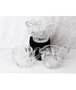 Cream & Sugar with Matching Bowl Vintage 3-Piece Cosmic Star Cut Crystal... - $39.99