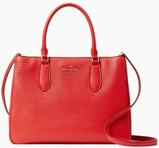 Kate Spade Leighton Red Leather Large Satchel Crossbody Bag WKR00168 NWT... - $149.99