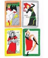 WWI Paris France Souvenirs; French Dancing Girls  8 Cloth Cocktail Napkins - $25.99