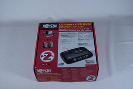 Tripp-Lite Compact USB KVM Switch with Audio B004-VUA2-K-R - Complete in... - $14.99