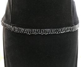 80s Black Velvet Stretch Beaded Boat Neck Sleeveless Evening Formal Maxi LBD Dre image 4