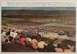 1947 Magazine Photo Air Show Cumberland Airport West Virginia near Maryland - $11.52