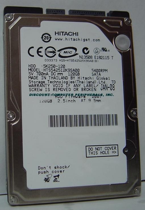 Hitachi hts542512k9sa00 new