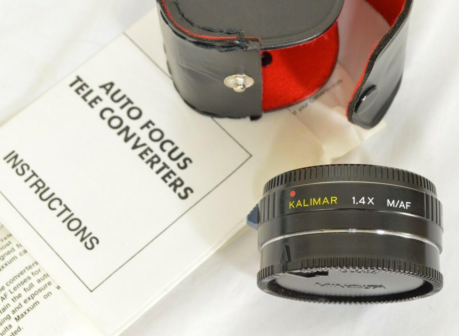 Kalimar 1.4 X M/AF Tele Converter Auto Focus camera lens w/ case & instructions image 11